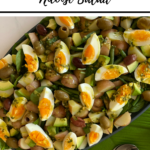 Nicoise salad in the Thermomix, pin with 'thermobexta thermomix Nicoise salad' title up top