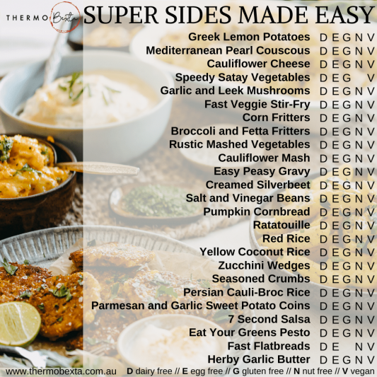 super sides made easy thermomix vegetarian sides index list